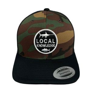 LOCAL KNOWLEDGE S5 (CAMO) SNBK - Bloodydecks - BDOutdoors - Fishing Tee Shirts