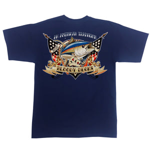 Fishing Tattoo T Shirt - Murica - Bloodydecks - BDOutdoors - Fishing Tee Shirts