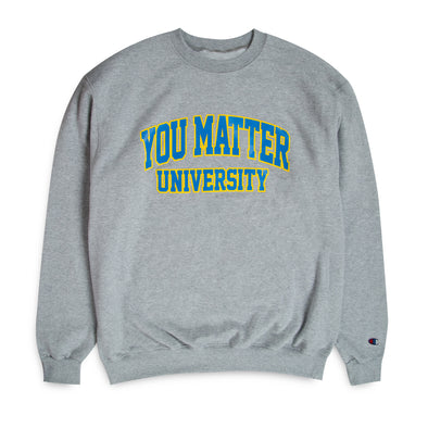 You Matter University Crewneck - Sky Blue/Yellow