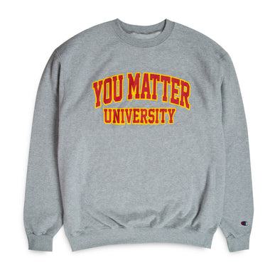 You Matter University Crewneck - Grey/Red-Yellow