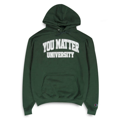 You Matter University Hoodie - Green/White