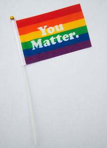Mini You Matter Pride Flag (Handheld)