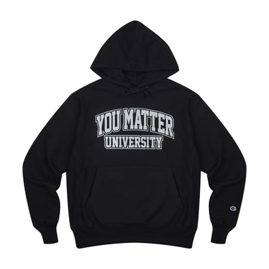 You Matter University 3M Reflective Champion Reverse Weave Hoodie - Black
