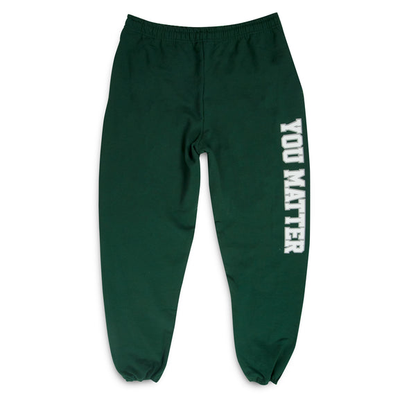 You Matter University Sweatpants - Green/White