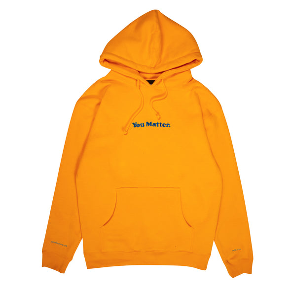 You Matter Embroidered Hoodie - Gold