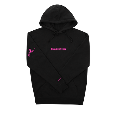 """You Matter"" Hoodie - 2020 Breast Cancer Awareness Edition - Black"