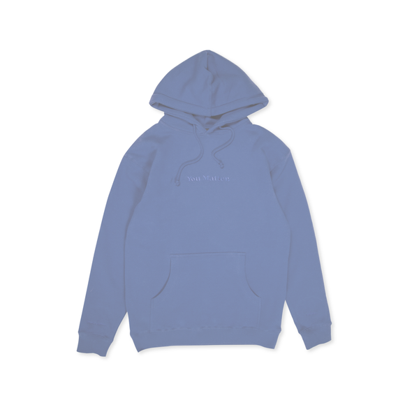 You Matter Hoodie - Blue Monochrome