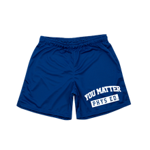 Load image into Gallery viewer, YMU Mesh Basketball Shorts - Blue