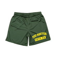 Load image into Gallery viewer, YMU Mesh Basketball Shorts - Green