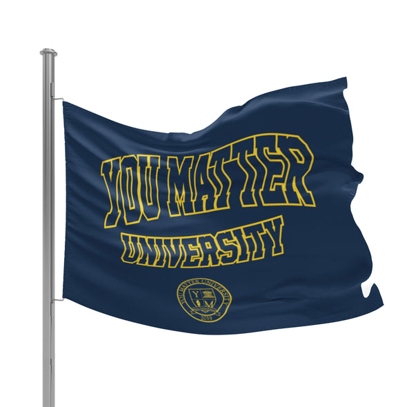 You Matter University Flag 1 - Navy/Yellow