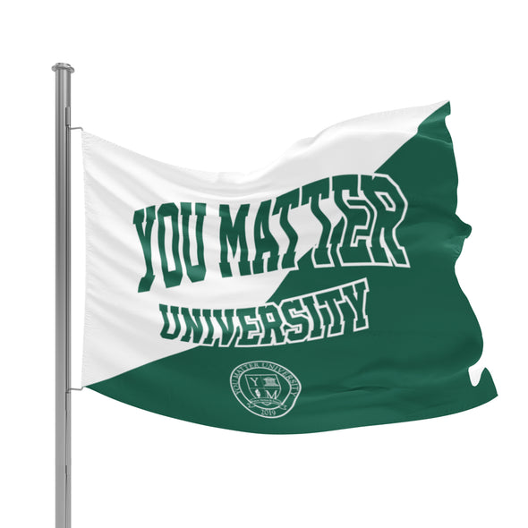 You Matter University Flag 2 - Green/White