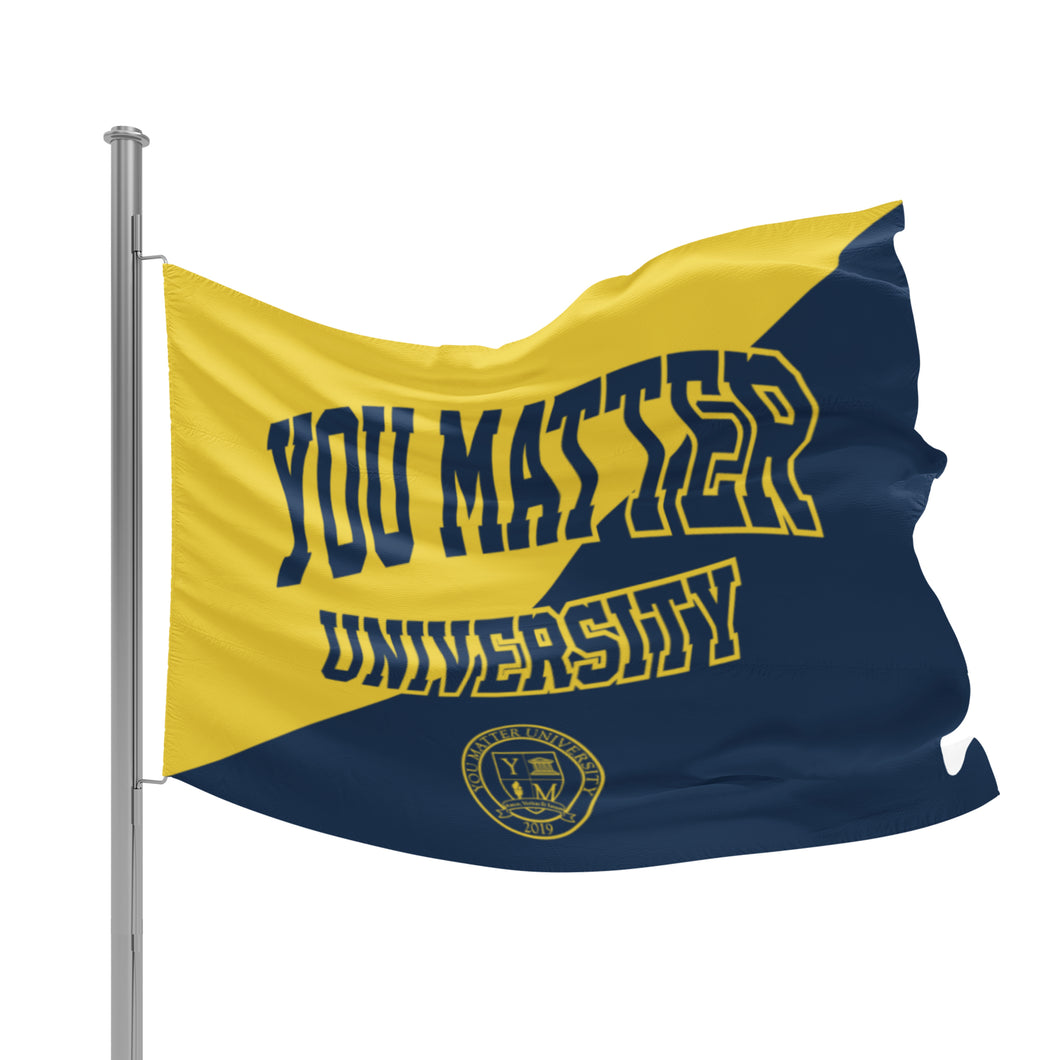 You Matter University Flag 2 - Navy/Yellow