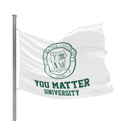 You Matter University Flag 3 - Green/White