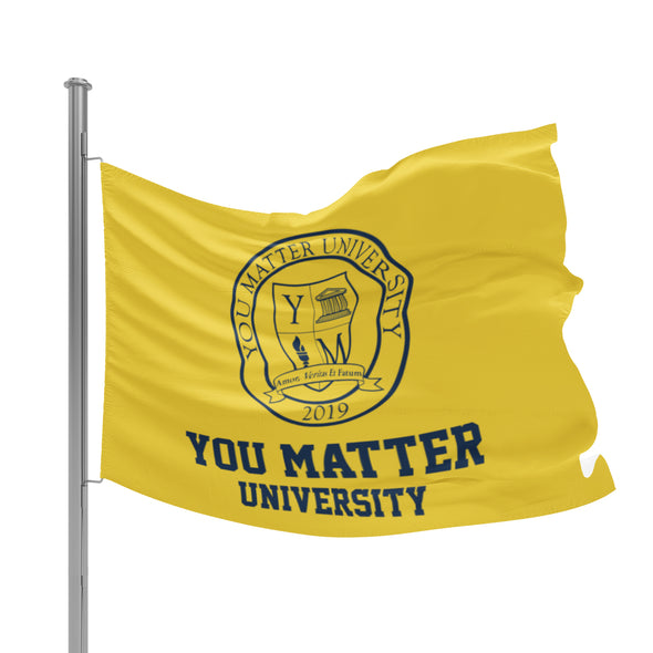 You Matter University Flag 3 - Yellow/Navy