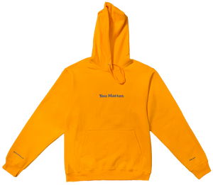 """You Matter"" Hoodie - Gold"