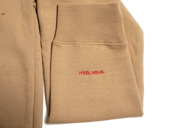 You Matter Embroidered Hoodie - Tan