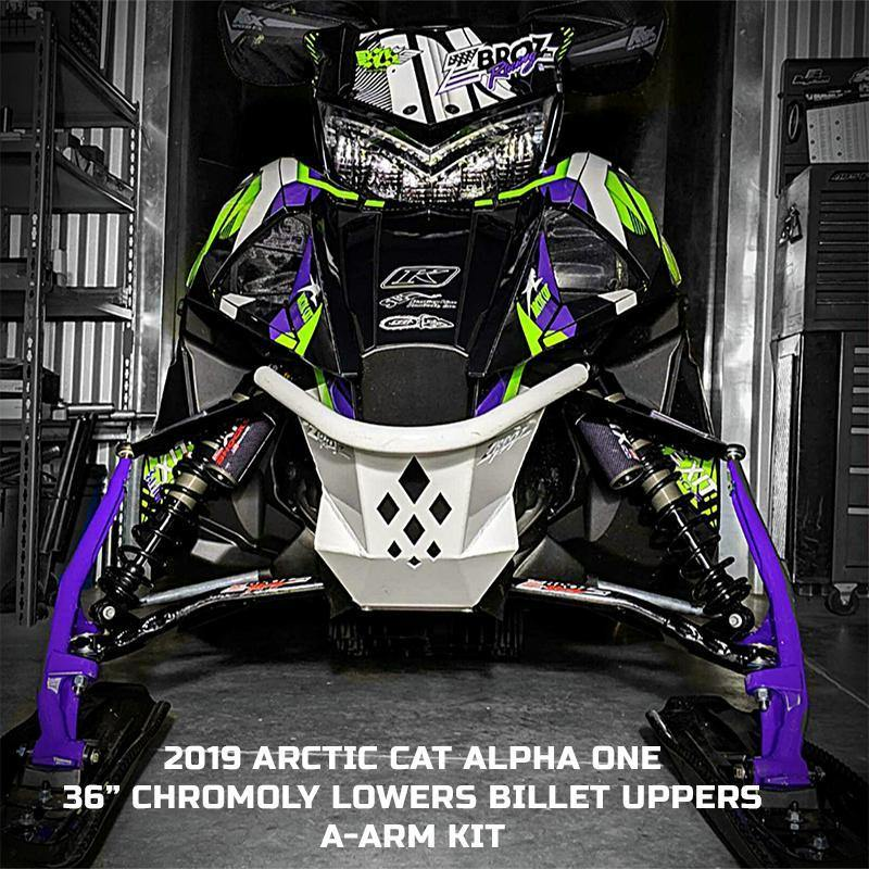 "Arctic Cat ALPHA ONE 36"" Billet Upper A-Arms (2019-2020)"