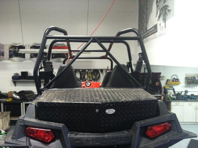 Ryfab Polaris RZR 1000 UTV Black Cargo Box