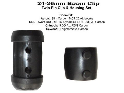 Severne boom clips 24-26 mm