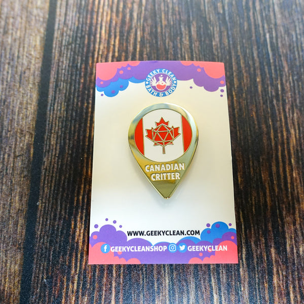 Canada Critter Enamel Pin Badge
