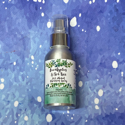 Tea Tree and Eucalyptus - 75% Alcohol No Rinse Antimicrobial Hand Cleanser | Hand Sanitizer