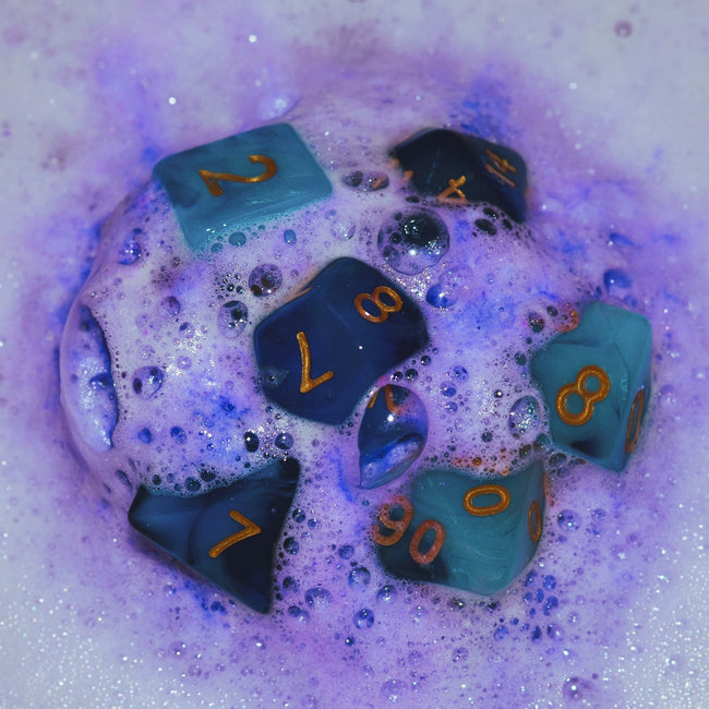 Witch Bolt Dice Set Bath Bomb | Tropical Fruit Scented Bath Bomb
