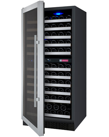 Allavino Flexcount - 121 Bottle Two Zone Wine Cooler Refrigerator - VSWR121-2SSRN