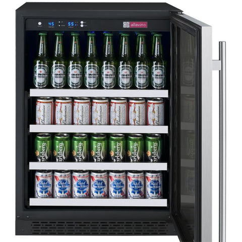 "Allavino FlexCount - 24"" Wide Beverage Center - VSBC24-SSRN"