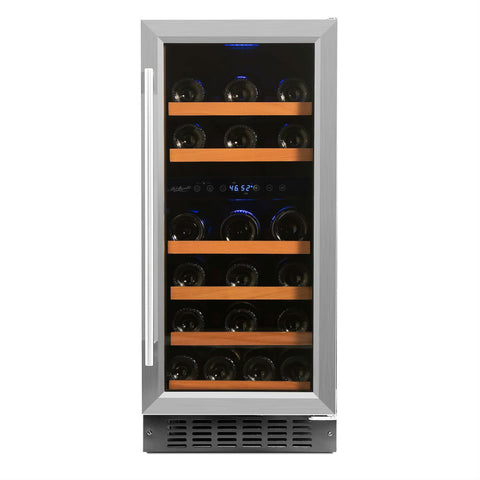 Smith & Hanks - 32 BOTTLE DUAL ZONE WINE COOLER - RW88DR - cjdss