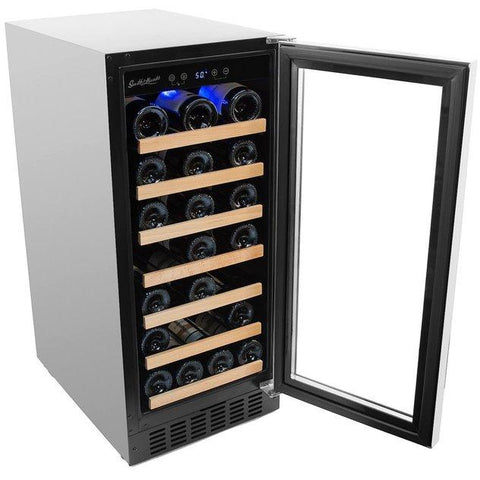 Smith & Hanks - 34 Bottle Single Zone Wine Cooler - RW88SR