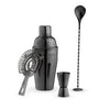 Image of Jet™ Gunmetal Black Barware Set by True®
