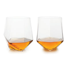 Seneca™ Faceted Crystal Tumblers (Set of 2) by Viski