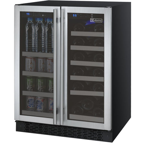 Allavino FlexCount - Two Door Wine Fridge/Beverage Center - Stainless - VSWB-2SSFN