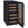 "Image of Allavino Flexcount - 15"" 30-Bottle Dual Zone Wine Refrigerator - Black VSWR30-2BWRN"