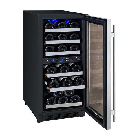 "Allavino Flexcount - 15"" 30-Bottle Dual Zone Wine Refrigerator - VSWR30-2SSRN"