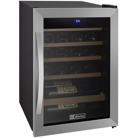 Allavino Cascina - 21 Bottle Wine Cooler Refrigerator - Stainless Steel - CDWR19-1SWT