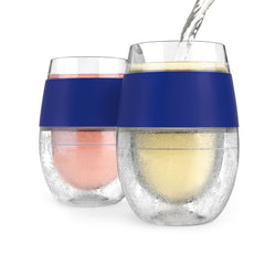 Wine FREEZE™ Cooling Cups (set of 2) by HOST® (Blue)