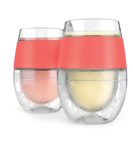 Wine FREEZE™ Cooling Cups (set of 2) by HOST® (Coral)