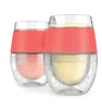 Image of Wine FREEZE™ Cooling Cups (set of 2) by HOST® (Coral)