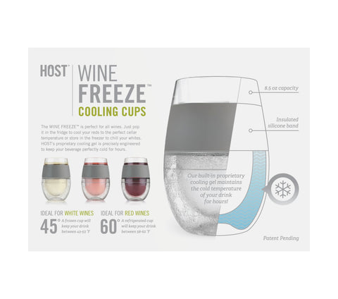 Wine FREEZE™ Cooling Cups (set of 2) by HOST® (Mint)
