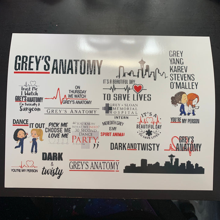 Grey's Anatomy Waterslide Sheet
