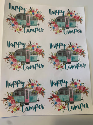 Happy Camper Waterslide Sheet
