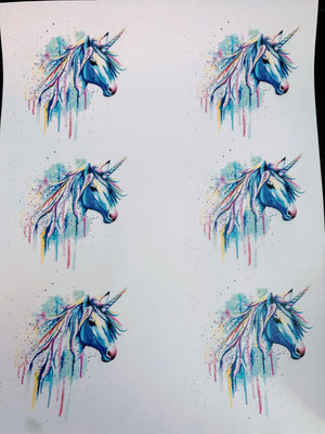 Unicorn Waterslide Sheet