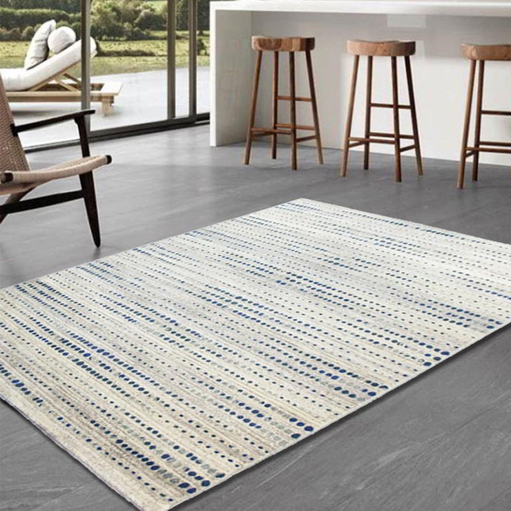 Boston Beige and Blue Rug