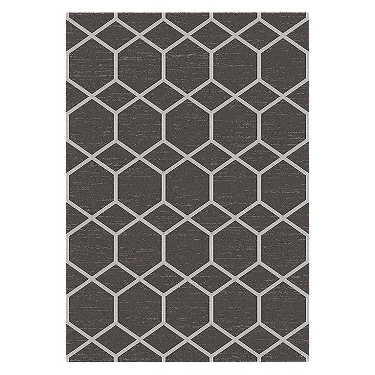 Harper Charcoal White Rug