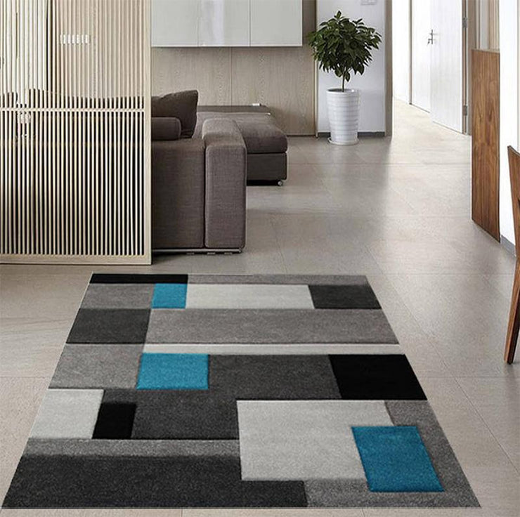Madagascar Grey Teal Rug