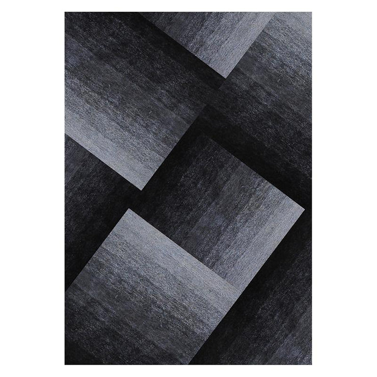 Romeo Black Grey Shaggy Rug 1.6 x 2.3m