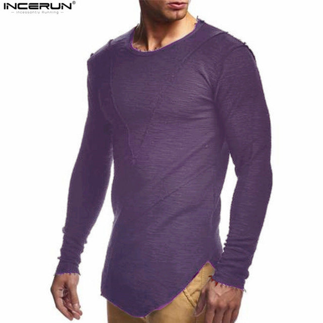 3b7e23f93 ... Load image into Gallery viewer, New Mens Hip Hop T Shirt Full Long  Sleeve T ...