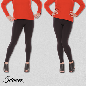 High-Waisted Compression Leggings - Silouex