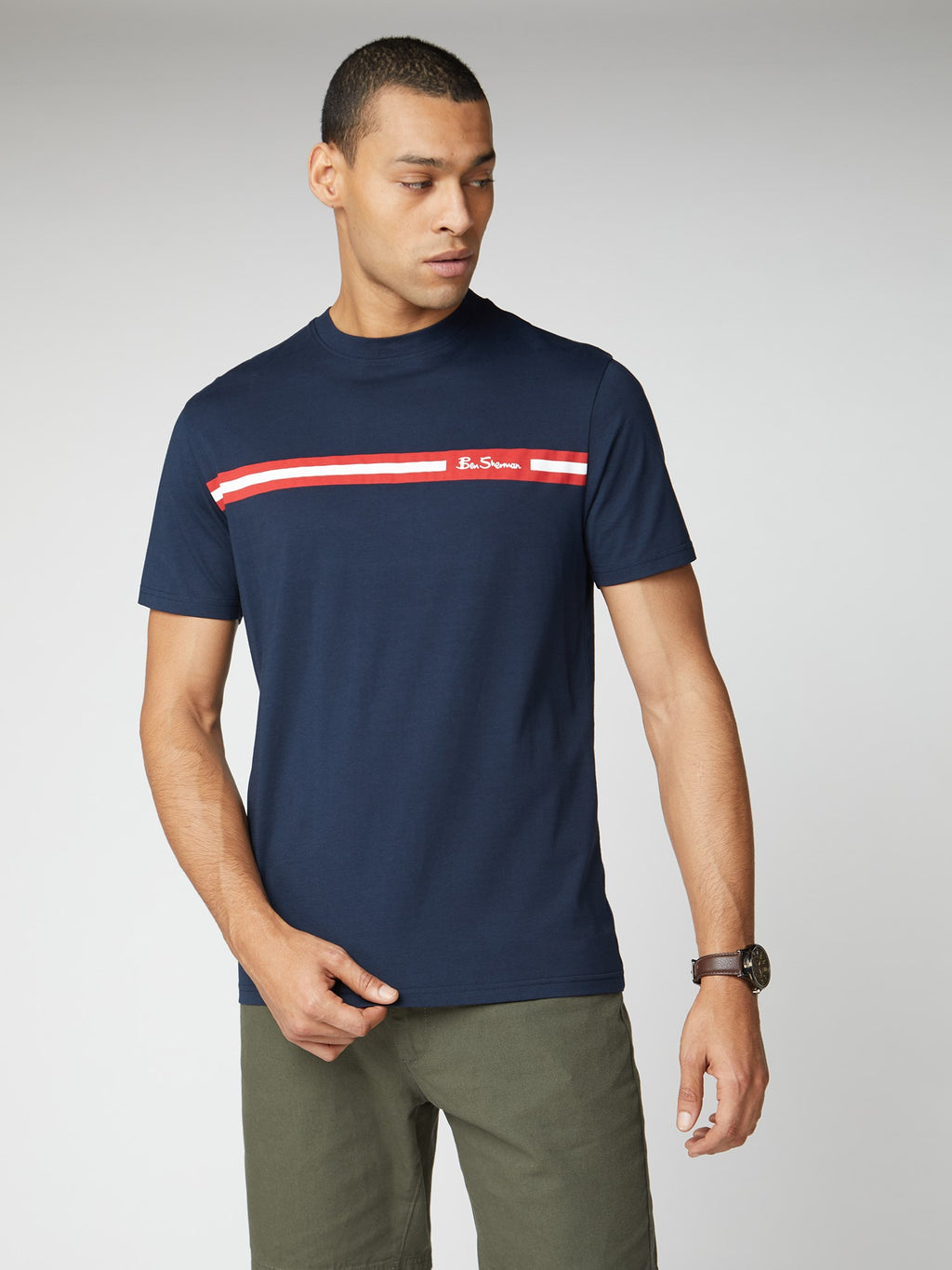 Ben Sherman Printed Chest Strip Tee
